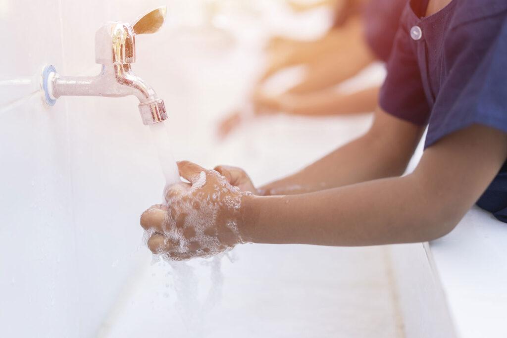 手洗い後のお楽しみ